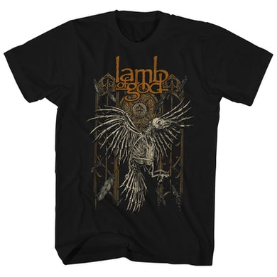 Lamb Of God T-Shirt | Skeleton Crow Lamb Of God Shirt