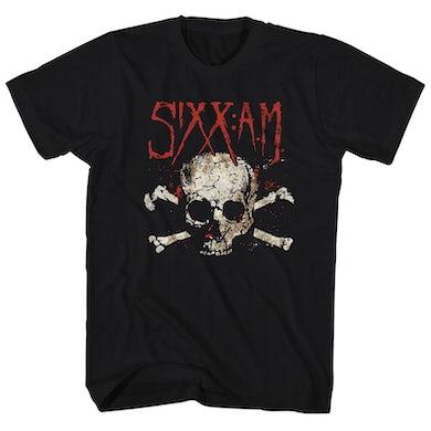 Sixx:AM Sixx:A.M. T-Shirt   Darkness Skull And Bones Sixx:A.M. Shirt