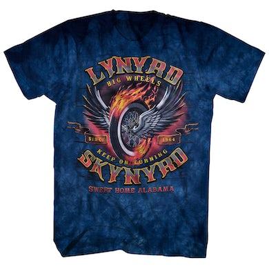 Lynyrd Skynyrd T-Shirt | Big Wheels Tie Dye Lynyrd Skynyrd Shirt