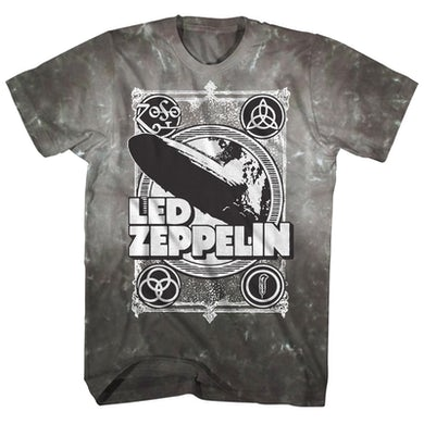 Led Zeppelin T-Shirt | ZOSO Logos Tie Dye Led Zeppelin Shirt