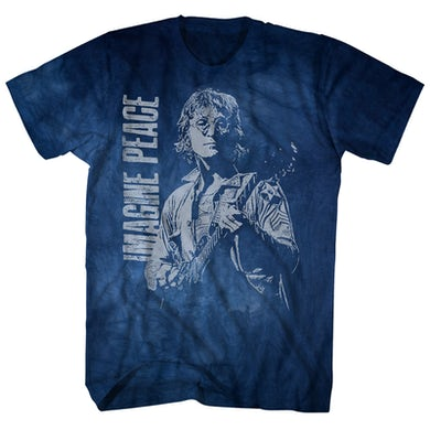 John Lennon T-Shirt | Imagine Peace Dirty Wash John Lennon Shirt