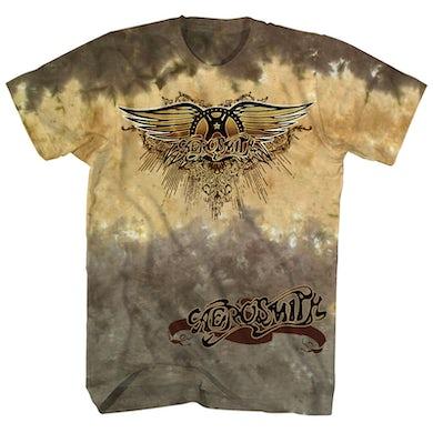 Aerosmith T-Shirt   Official Logo Tie Dye Aerosmith Shirt