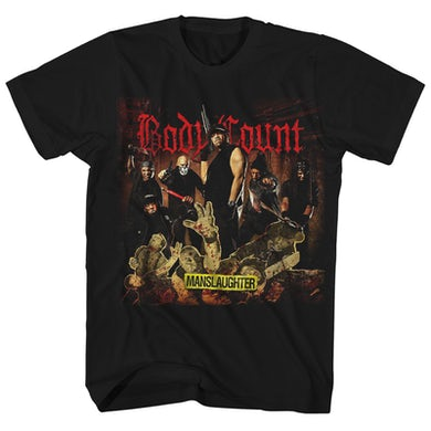 Body Count T-Shirt | Manslaughter Europe Tour '15 Body Count Shirt (Reissue)