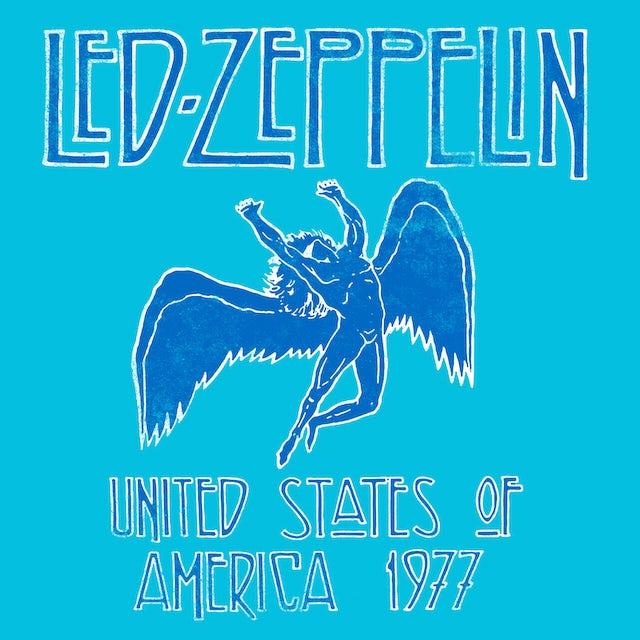 Led Zeppelin T-Shirt   Icarus '77 Tour Radial Tie Dye Led Zeppelin Shirt (Reissue)