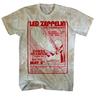 Led Zeppelin T-Shirt | Tampa Stadium Concert Tie Dye Led Zeppelin Shirt (Reissue)