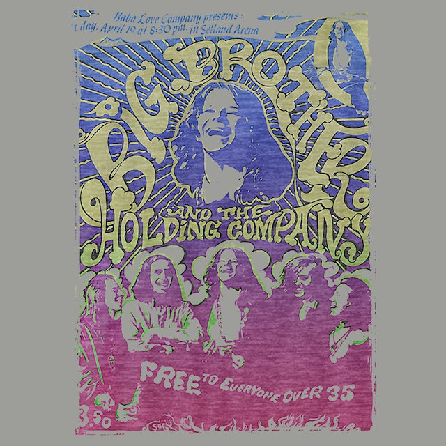 Big Brother And The Holding Company T-Shirt | Vintage Handbill Big Brother And The Holding Company Shirt
