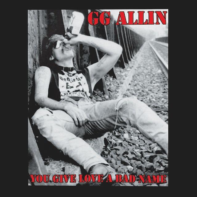 Gg Allin T-Shirt   You Give Love A Bad Name Album Art GG Allin Shirt