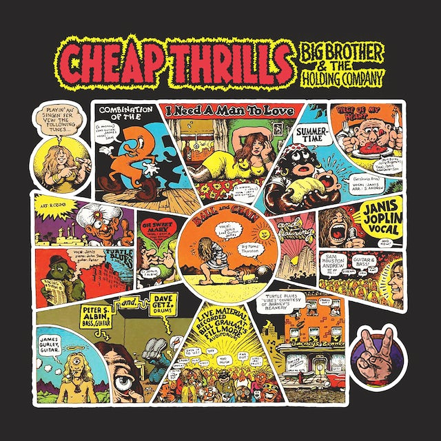 Big Brother And The Holding Company T-Shirt | Cheap Thrills Album Art Big Brother And The Holding Company Shirt