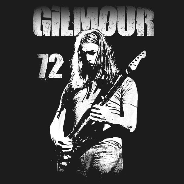 David Gilmour T-Shirt | 72 Playing Guitar Portrait David Gilmour Shirt
