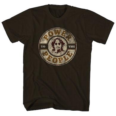 John Lennon T-Shirt | Power To The People Iconic Signature John Lennon Shirt