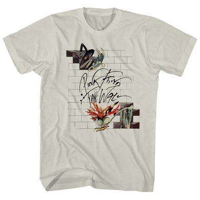 Pink Floyd T-Shirt | The Wall Floral and Lively Pink Floyd Shirt