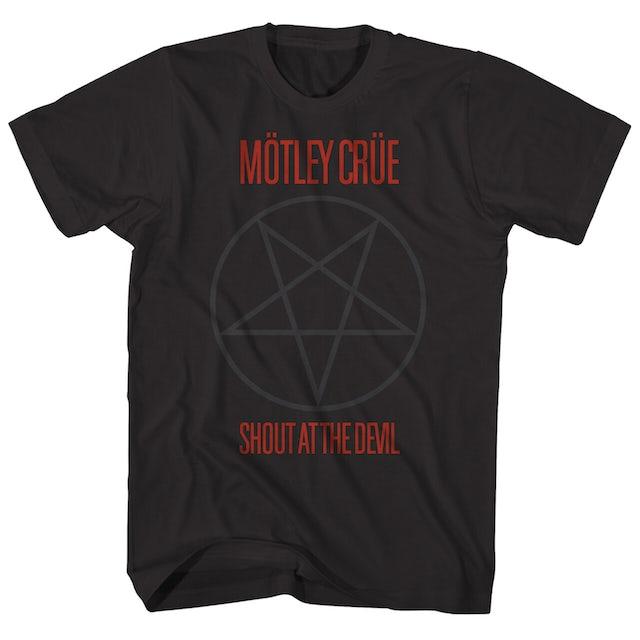 Mötley Crüe T-Shirt | Pentagram Shout At The Devil Mötley Crüe Shirt