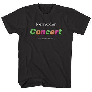 New Order T-Shirt | Concert North American Tour 1989 New Order Shirt