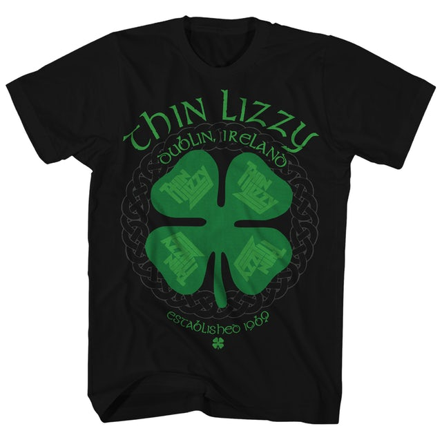 Thin Lizzy T-Shirt | Four Leaf Clover Dublin, Ireland Logo Thin Lizzy Shirt