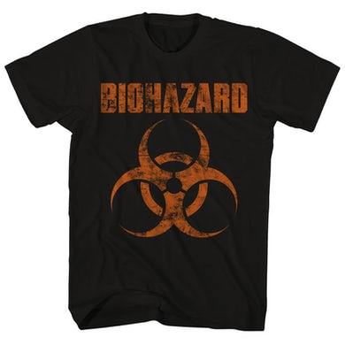 T-Shirt | Distressed Logo Biohazard Shirt