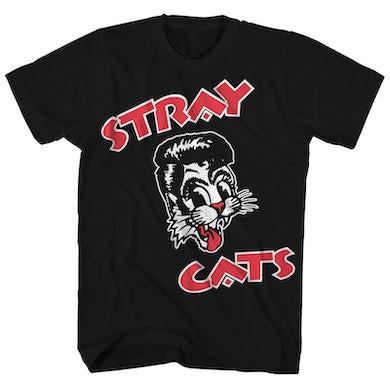 Stray Cats T-Shirt | Cat Head Logo Stray Cats Shirt