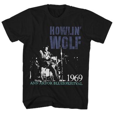 Howlin' Wolf T-Shirt | 1969 Ann Arbor Blues Festival Live PhotoHowlin' Wolf Shirt