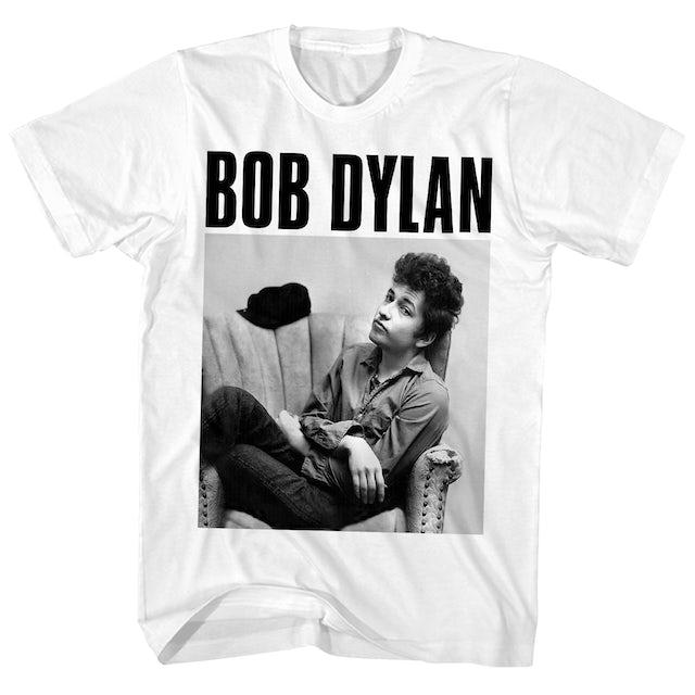 Bob Dylan T-Shirt | Sitting In Armchair Portrait Bob Dylan Shirt