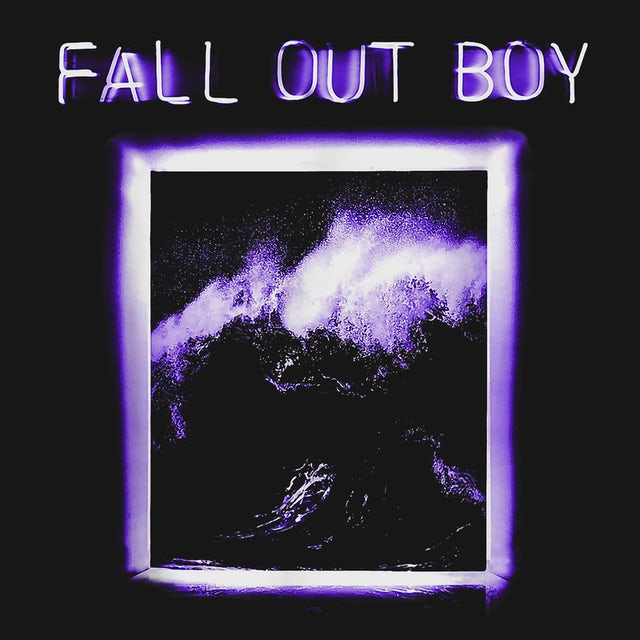 Fall Out Boy T-Shirt | Neon Wave Framed Picture Fall Out Boy Shirt