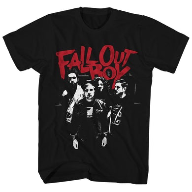 Fall Out Boy T-Shirt | Punk Scratch Group Photo Fall Out Boy Shirt