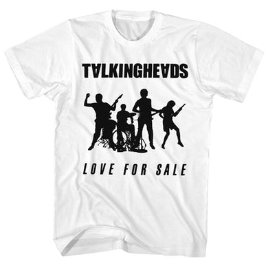 Talking Heads T-Shirt | Love For Sale Band Silhouette Talking Heads Shirt
