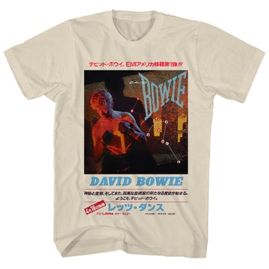 David Bowie T-Shirt | Let's Dance Japanese Text David Bowie Shirt