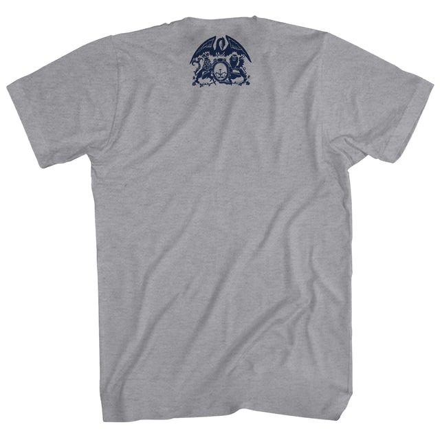 Queen T-Shirt | Dark Blue Crest Logo Queen Shirt
