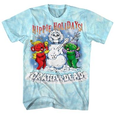 Grateful Dead T-Shirt | Hippie Holidays Winter Tie Dye Grateful Dead Shirt