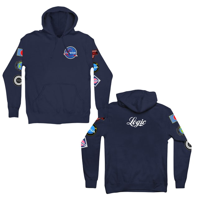 Logic Hoodie   Space Patches NASA-Inspired Logo Logic Hoodie