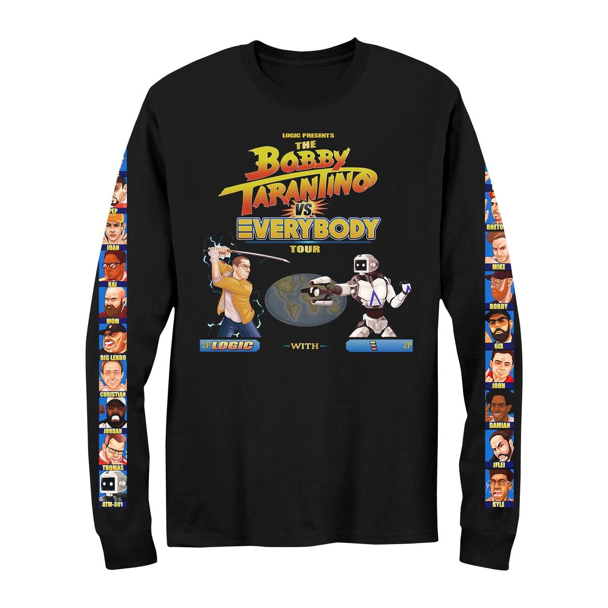 Logic PEACE LOVE /& POSITIVITY ROBOT BOBBY TARANTINO T-Shirt NEW