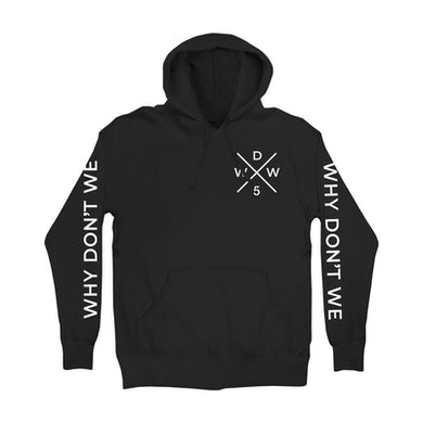 Why Don't We Hoodie | WDW5 Criss Cross Logo Why Don't We Hoodie