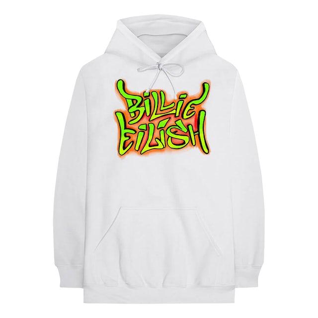 Billie Eilish Hoodie   Neon Graffiti Art Billie Eilish Hoodie