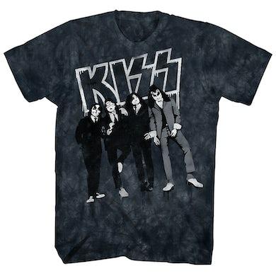 KISS T-Shirt | Dressed To Kill Album Cover Tie Dye KISS Shirt