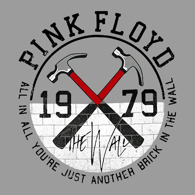 Pink Floyd T-Shirt | 1979 The Wall Official Logo Pink Floyd T-Shirt