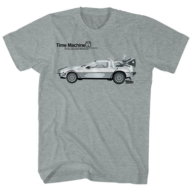 Back to the Future T-Shirt | Delorean Time Machine Back to the Future Shirt