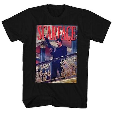 Scarface T-Shirt   Tony Montana Balcony Railing Shot Scarface Shirt
