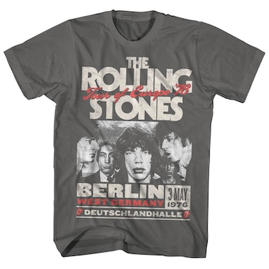 The Rolling Stone T-Shirt | Tour Of Europe '76 The Rolling Stones Shirt