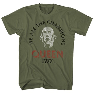 Queen T-Shirt | We Are The Champions Distressed Queen Shirt