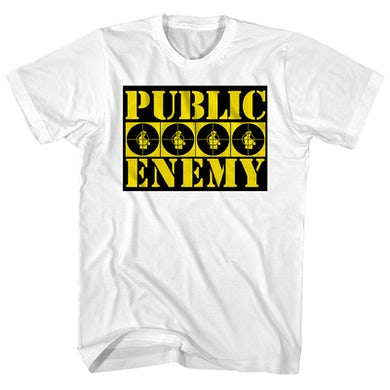 Public Enemy T-Shirt | Public Enemy Yellow Logo Design Public Enemy Shirt