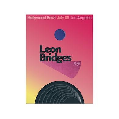 Leon Bridges Los Angeles, CA Hollywood Bowl Poster  July 5, 2019