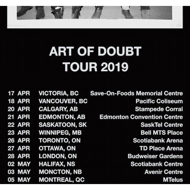 Metric 2019 Art of Doubt Canadian Tour Poster + AOD Digital Download
