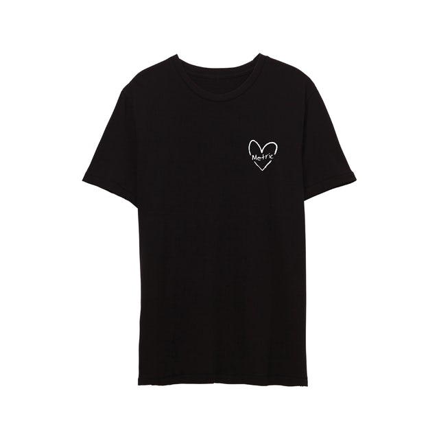 Metric Love You Back Heart T-Shirt Limited Edition