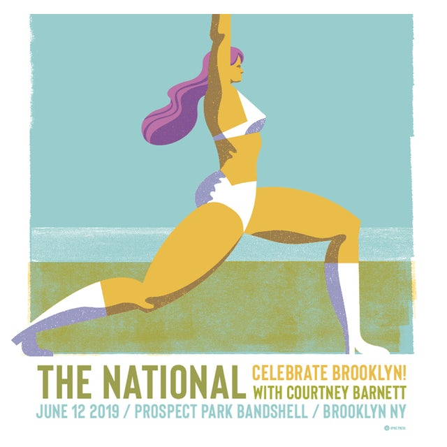 The National Brooklyn Prospect Park Poster June 12, 2019