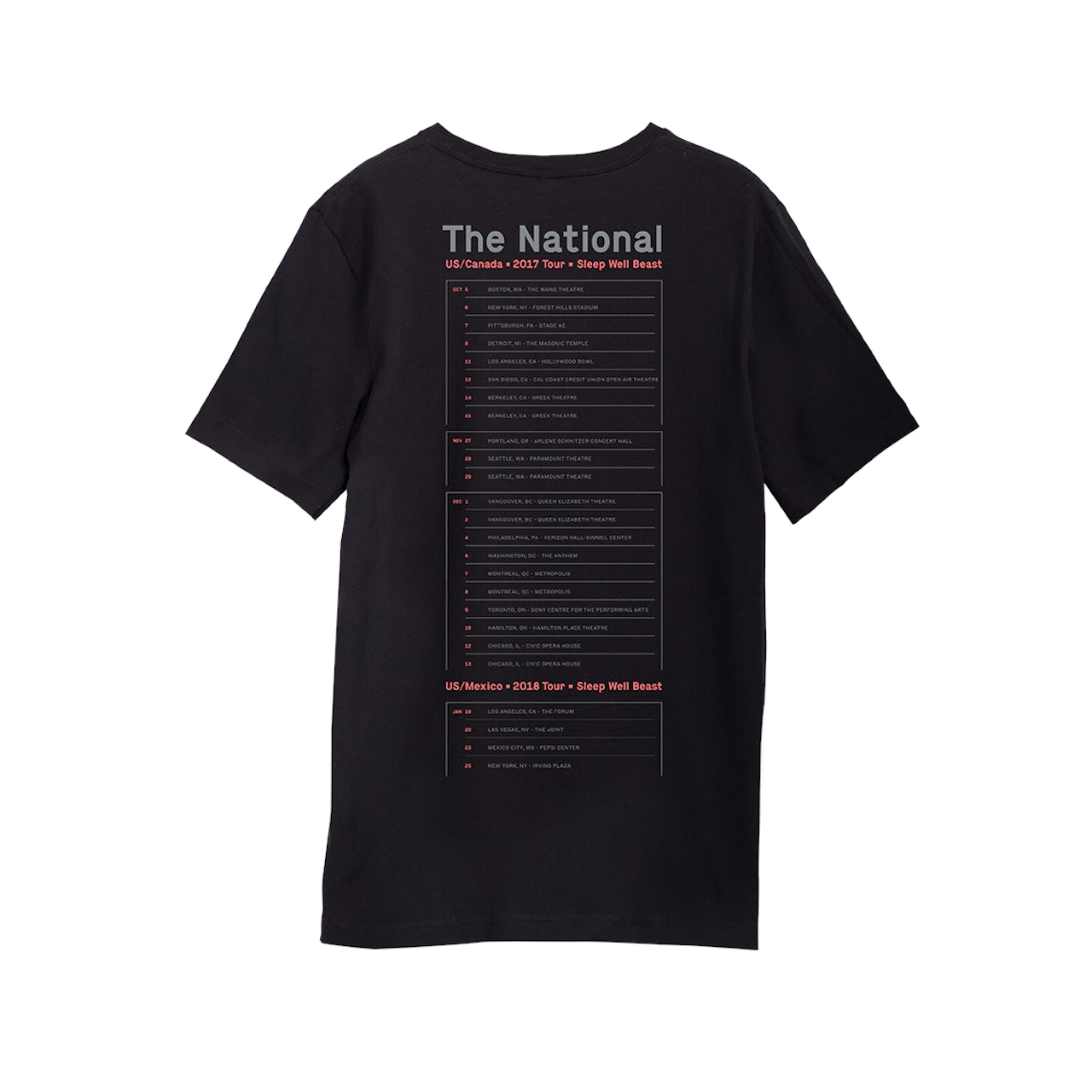 06d546f96fe The National North American Tour 2017 2018 T-Shirt. Touch to zoom