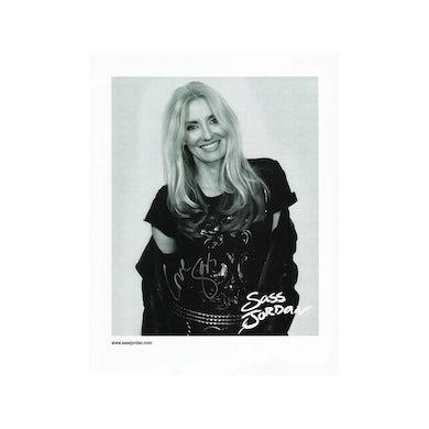 Sass Jordan Black & White Photo (Signed)