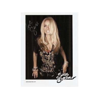 Sass Jordan Black Background Photo (Signed)