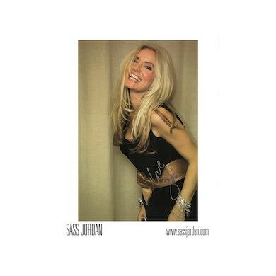 Sass Jordan Gold Background Photo (Signed)