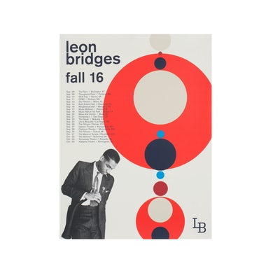 Leon Bridges Fall 2016 Tour Poster
