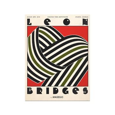 Leon Bridges Atlanta Chastain Park Amphitheatre PosterAugust 28, 2018