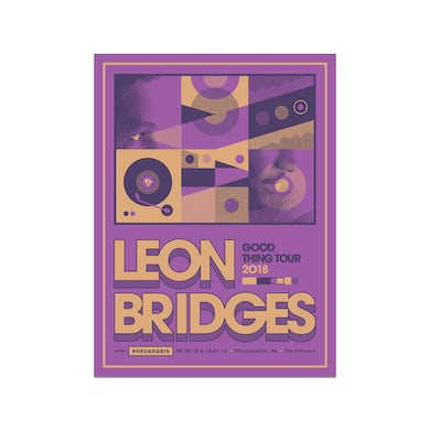 Leon Bridges Philadelphia Fillmore PosterSeptember 30 & October 1, 2018